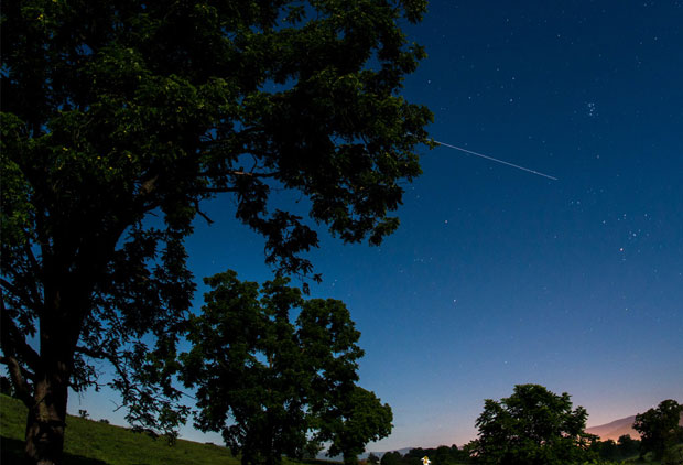 ISS in night sky